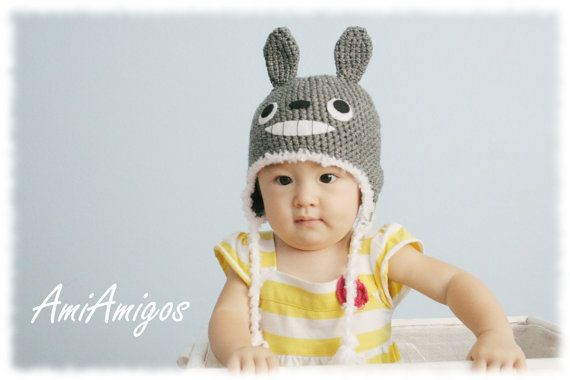 Crochet Totoro Hat Made To Order  baby to adult sizes by AmiAmigos, $28.50