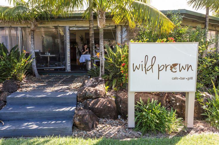 Set in tropical surrounds, Wild Prawn Café, Bar + Grill.