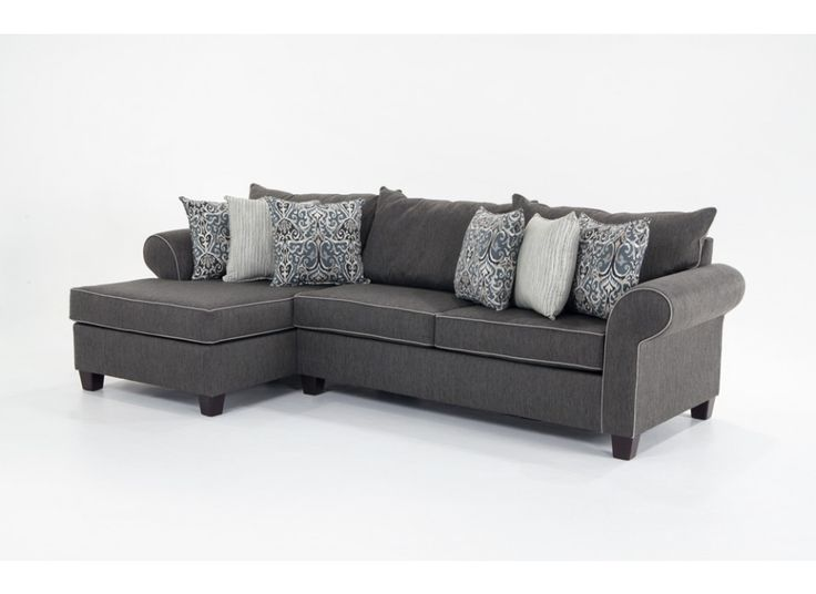 Sectional sofas bobs dr pitt slipcovered sectional - Bob s discount furniture living room sets ...