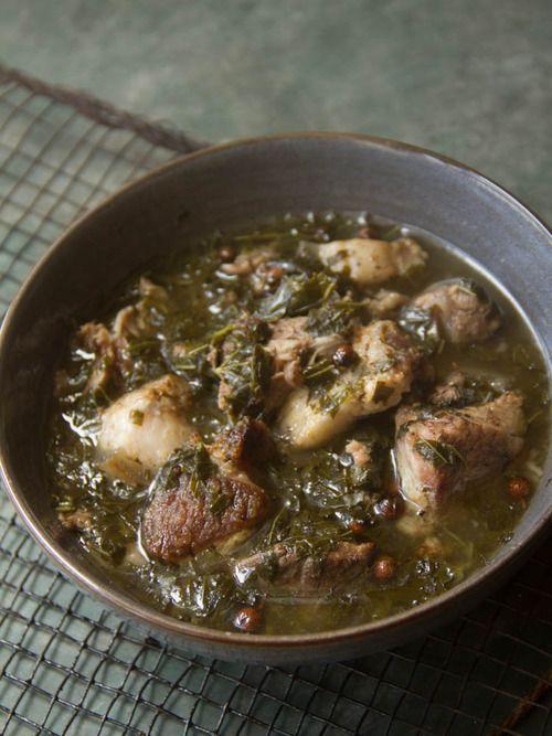 Smoked pork with sougri- Manipuri recipe