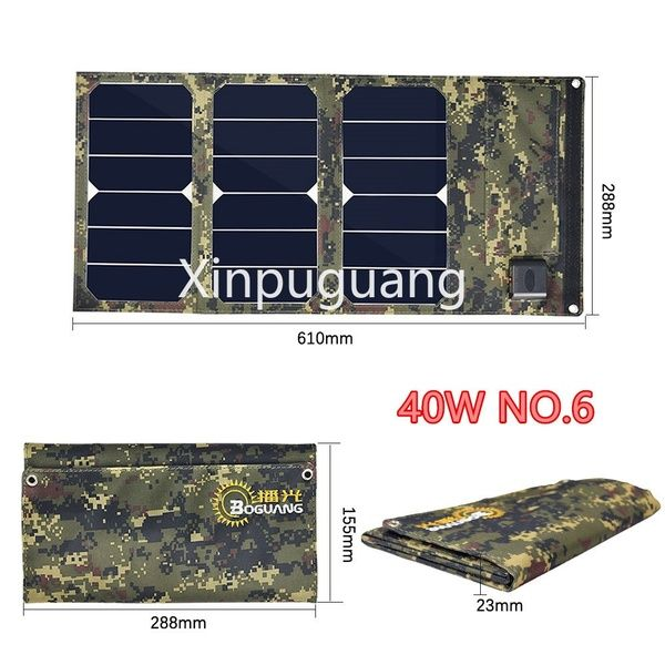 40w 30w 20w 15w 12v 5v Usb Waterproof Portable Foldable Solar Panel Charger Power Bank For Outdoor Phone Car Charging Climbing Hiking Camping Wish Solar Panel Charger Solar Panels Charger