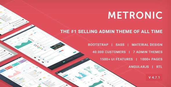 Metronic - Responsive Admin Dashboard Template by keenthemes | ThemeForest