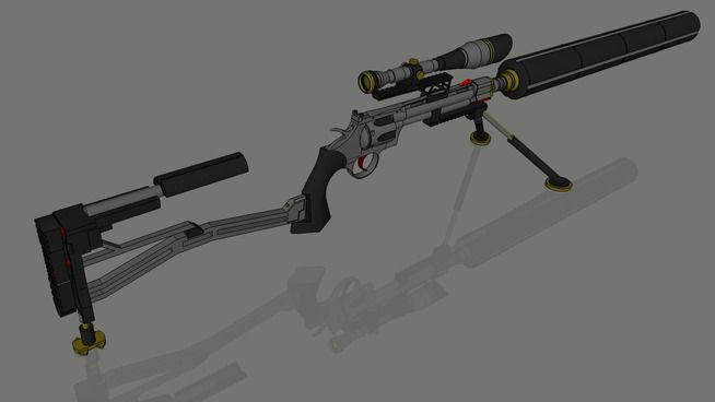 Colt Python .357 Magnum sniper rifle - 3D Warehouse ...