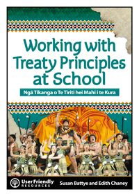 The new best seller - Written in partnership by educators Edith Chaney and Susan Battye, is engaging and easy-to-use. This new resources supports schools to look at how they can enact the principles of the Treaty of Waitangi at a governance and leadership level, at a whole school level, and at a classroom level. It uses examples from New Zealand schools to demonstrate how this might be achieved.