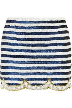 Ashish Embellished silk-georgette mini skirt | NET-A-PORTER