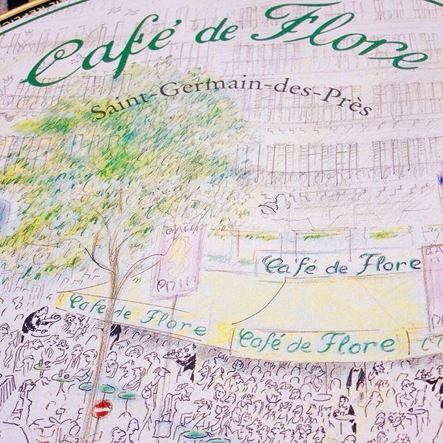 Breakfast@famous café de Flore Paris - set painted by Toulouse Lautrec #paris #story #inspiration #karllagerfeld #trixigronau #myhomecouture #jeanpaulsatre #papblopicasso #breakfast #cafe #friends #iloveparis #ilove #instagood #instamood #art #vintage #instagramers #beautiful #liebees #gutenmorgen #like4like #saintgermain #crossant