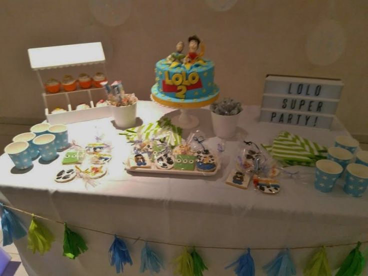 Mesa dulce tematica Toy Story Cumpleaños infantil