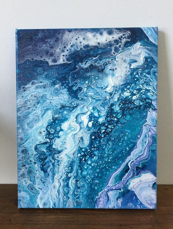 Abstract Ocean Painting At Paintingvalley Com Explore Collection