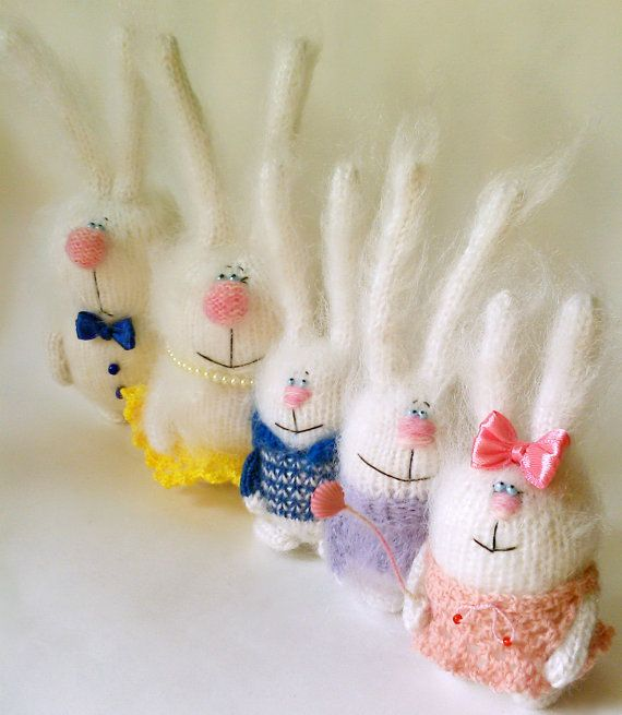 Bunnies  Family  Rabbit Parents  Rabbit Children  от MiracleStore, $124.00