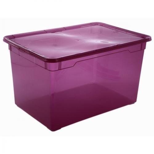 Sundis 4150028 CBox Large Storage Box 55 X 37.5 X 31.5 Cm Plastic Purple.  Best