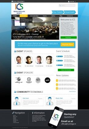 Website Design for ICS