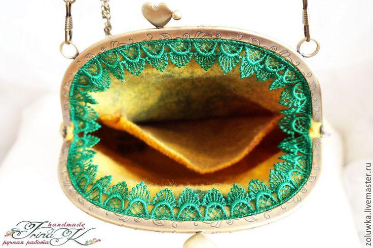 Купить Валяная сумочка с фермуаром Пейсли - разноцветный, пейсли, сумочка с фермуаром, сумка женская