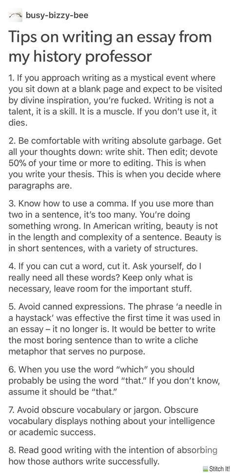 Tips for writing essays for college homework