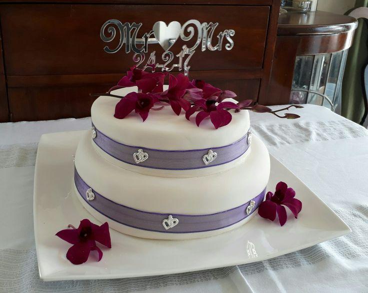 A rich chocolate Wedding cake