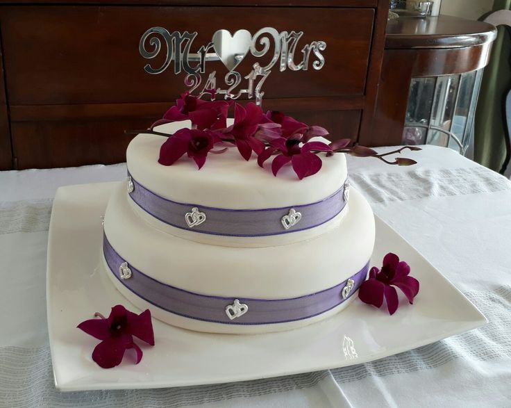 A rich chocolate Wedding cake