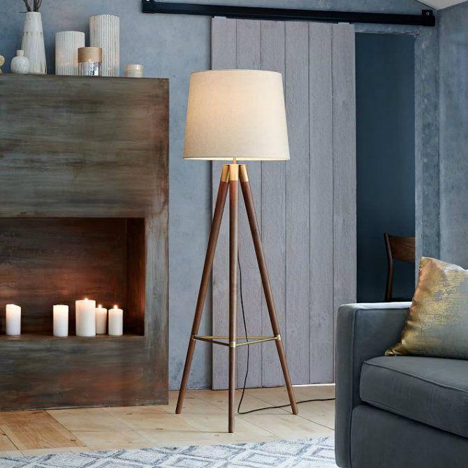 134 best floor lamps images on pinterest chandeliers floor wooden floor lamps for a mid century modern home design aloadofball Gallery