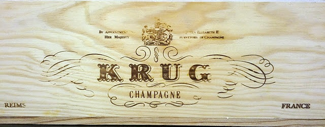 Very rare Krug Champagne single bottle magnum wine crate
