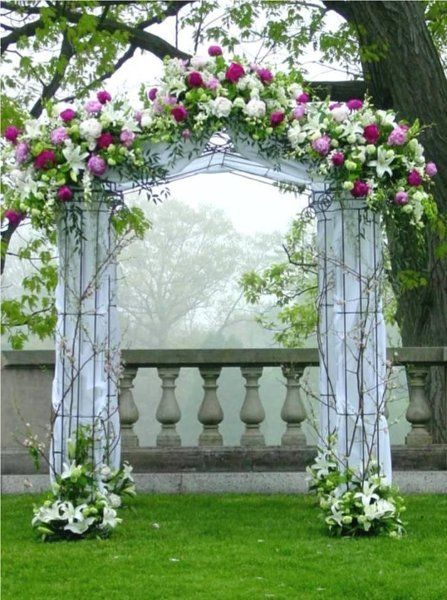 Altar Arch Arrangements Chuppah Indoor Ceremony Outdoor