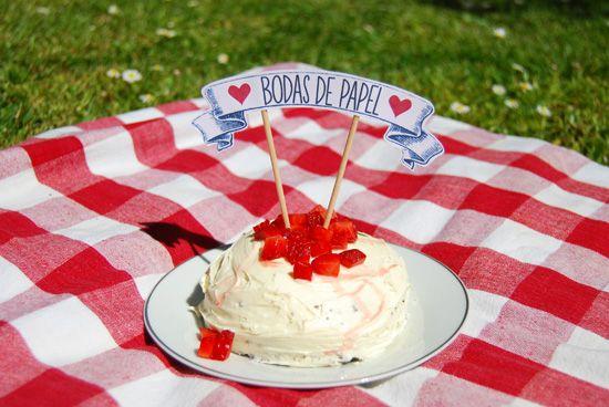 Topo de bolo – aniversário de casamento
