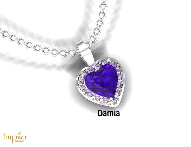 """""""Damia"""" - Beauty attracts the heart, with this heart cut tanzanite centre stone surrounded by round brilliant cut diamonds."""