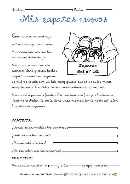 Lectura comprensiva Archivos - Página 4 de 4 - Web del maestro - Educación Infantil y Primaria short reading with comprehension questions