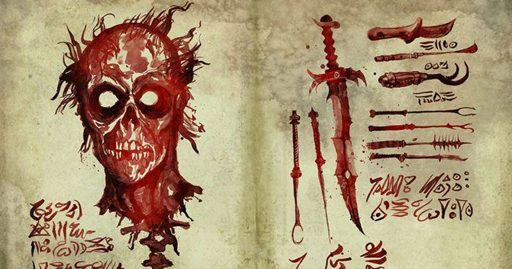 'Ash Vs Evil Dead': Look Inside the Necronomicon Book of the Dead -- Six pages of the new Necronomicon from 'Ash Vs Evil Dead' are revealed just in time for Comic Con 2015. -- http://movieweb.com/ash-vs-evil-dead-necronomicon-book-dead-photos/