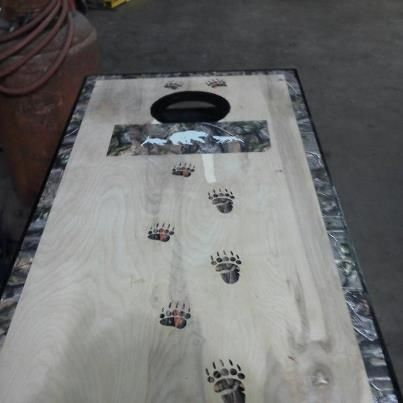 coon hunting corn hole boards - Google Search