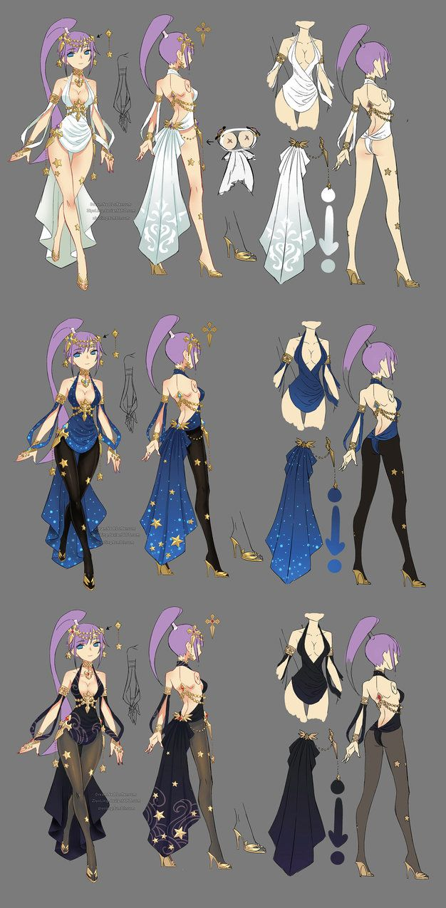 this is the myth theme costume i designed for the sorceress class of MMO game Dragon Nest in 2014. =) the other classes of this series