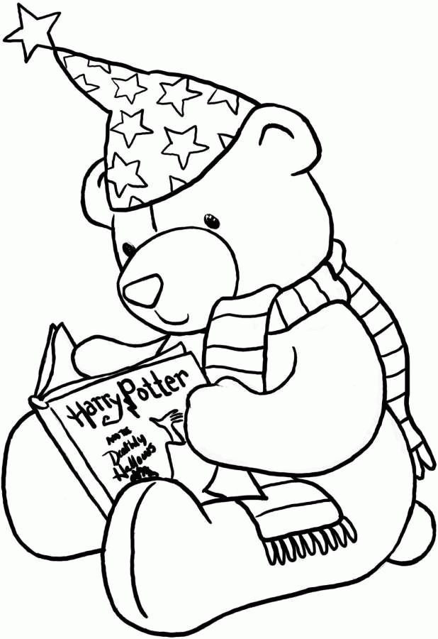 It is a picture of Wild Reading Coloring Page