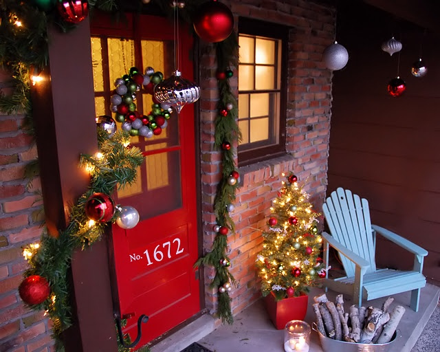 Holiday Front Porch Ideas Christmas Crafting Pinterest