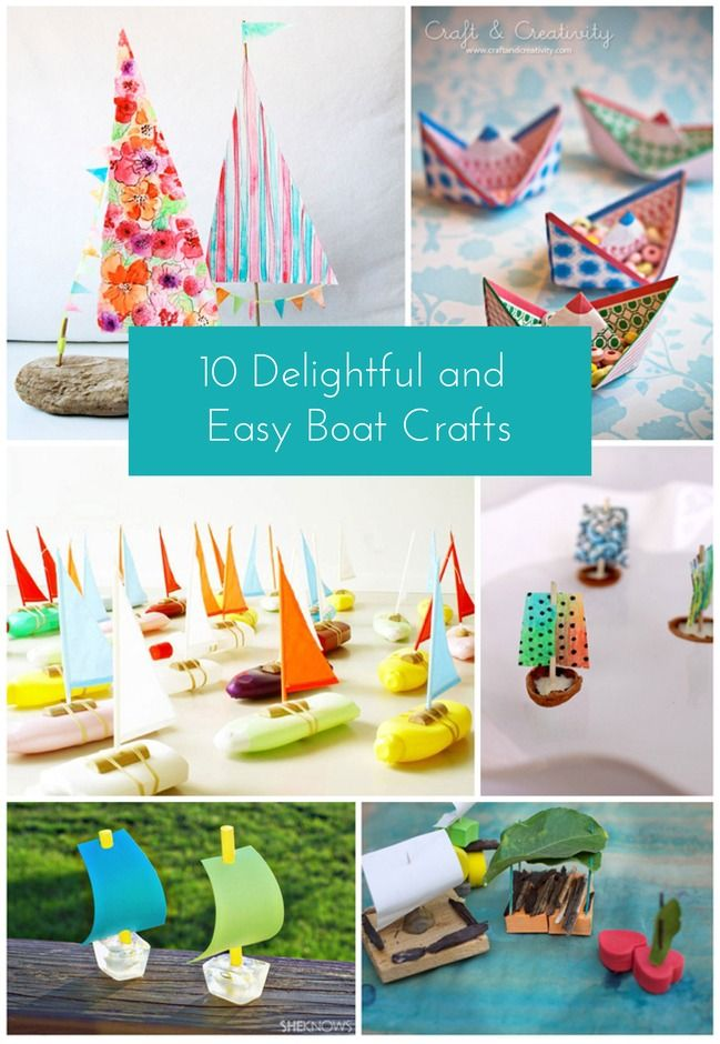 The cutest boat crafts for kids!