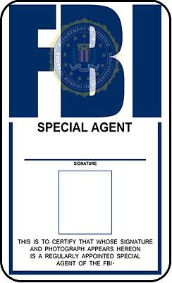 FBI ID template FBI Identification Card X-Files prop