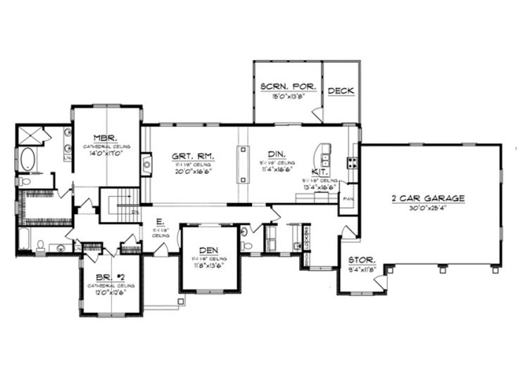 story with basement house plans pinterest