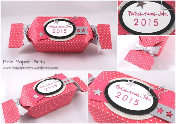 Stampin' up! XXL-Silvester-Bonbon, happy new year, Frohes neues Jahr - Fine Paper Arts