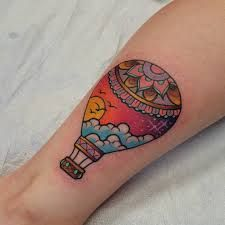 Risultati immagini per hot air balloon tattoo