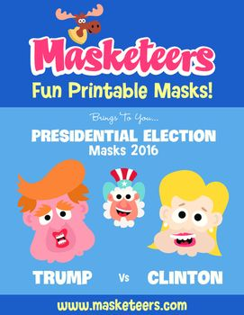 Here's some freebie Presidential Election Masks from Masketeers.com. Hillary Clinton and Donald Trump - do what you want with them! ;)