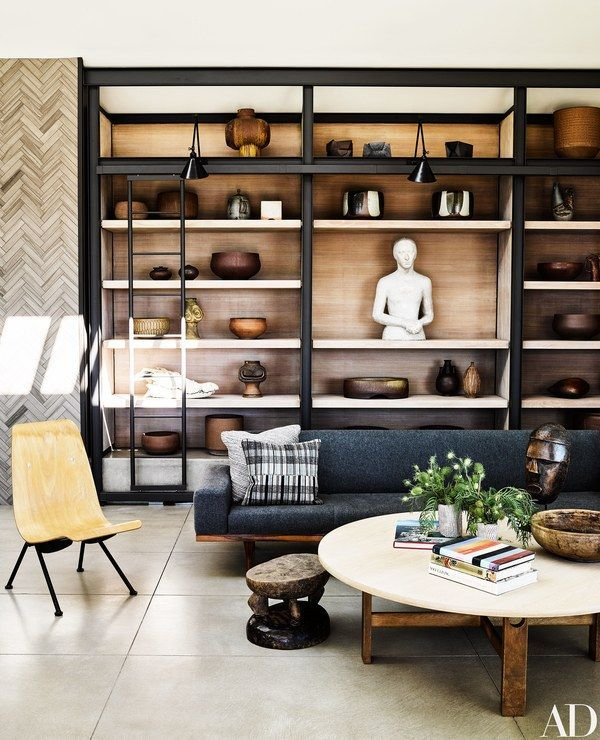 An Illum Wikkelsø sofa graces the living room | archdigest