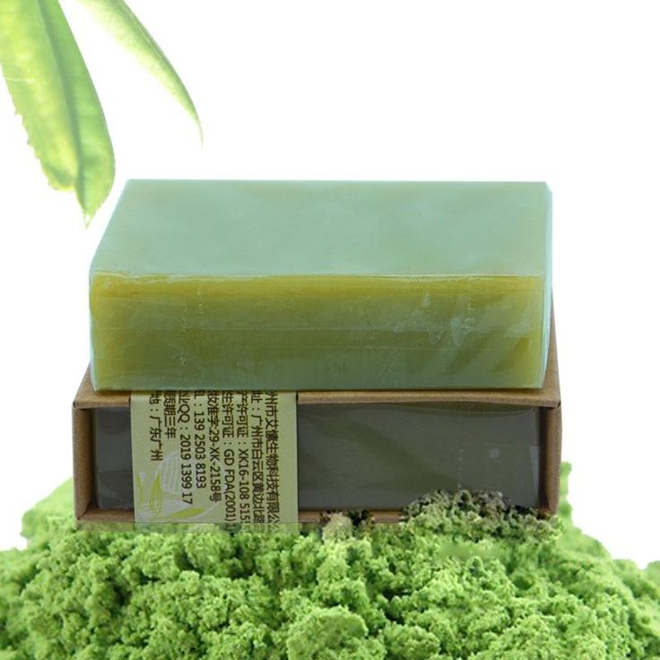 Organic Handmade Matcha Green Tea Powder Soap