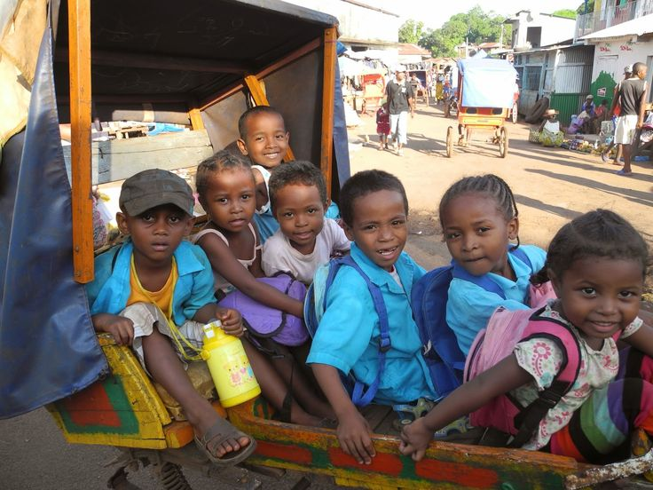 Things I love about Madagascar   1. Little kids piled on a pousse-pousse going home after school, especially when there are a bunch of ...