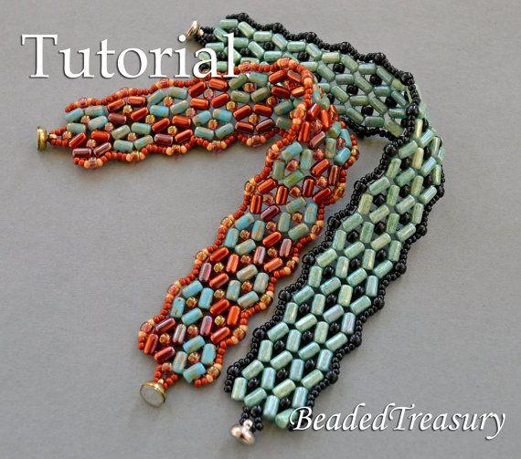 Beading Tutorial Rulla Bead Pattern Bracelet Pattern
