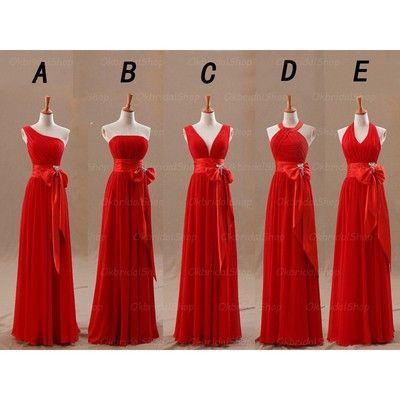 red bridesmaid dresses, long bridesmaid dresses, cheap bridesmaid dresses, chiffon bridesmaid dresses, custom bridesmaid dresses, 15230