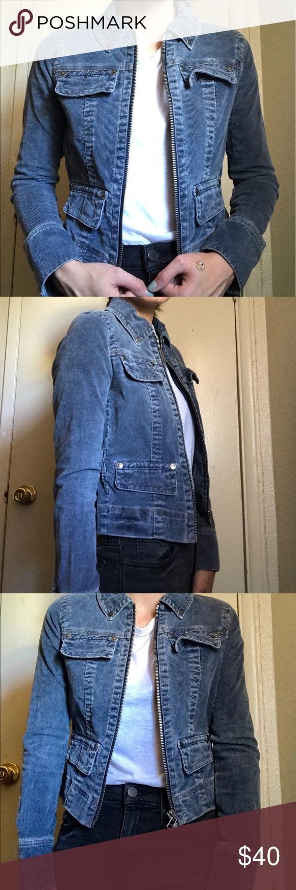Tommy Jean Corduroy Jacket The One With a Tommy Jeans jacket in denim corduroy. size S/P. barely worn. like new. zip up front and pocket detailing. bringing Britney denim on denim look back with bunching detailing on reverse side to give it that extra feminine touch. Tommy Hilfiger Jackets & Coats Jean Jackets