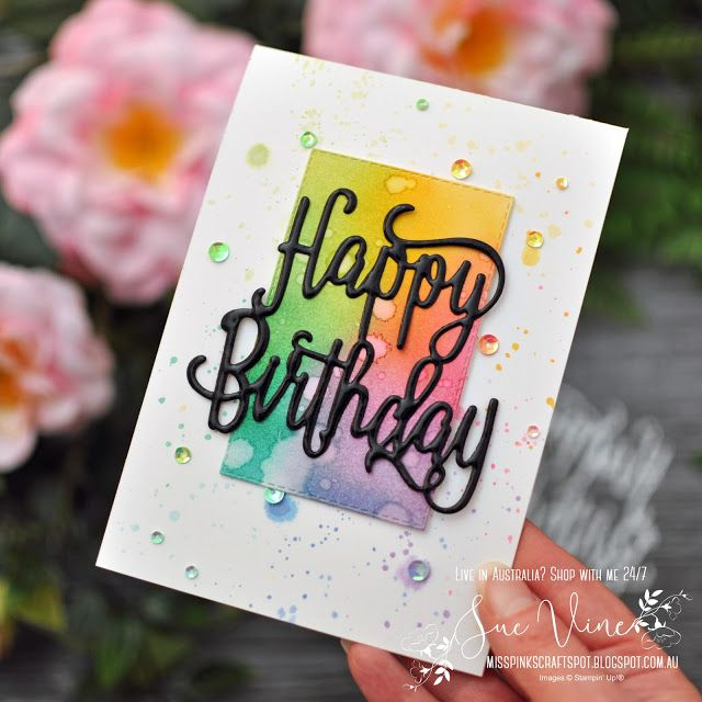 Happy Birthday With A Splash Of Colour Simple Cards Birthday Cards Diy Greeting Cards Handmade