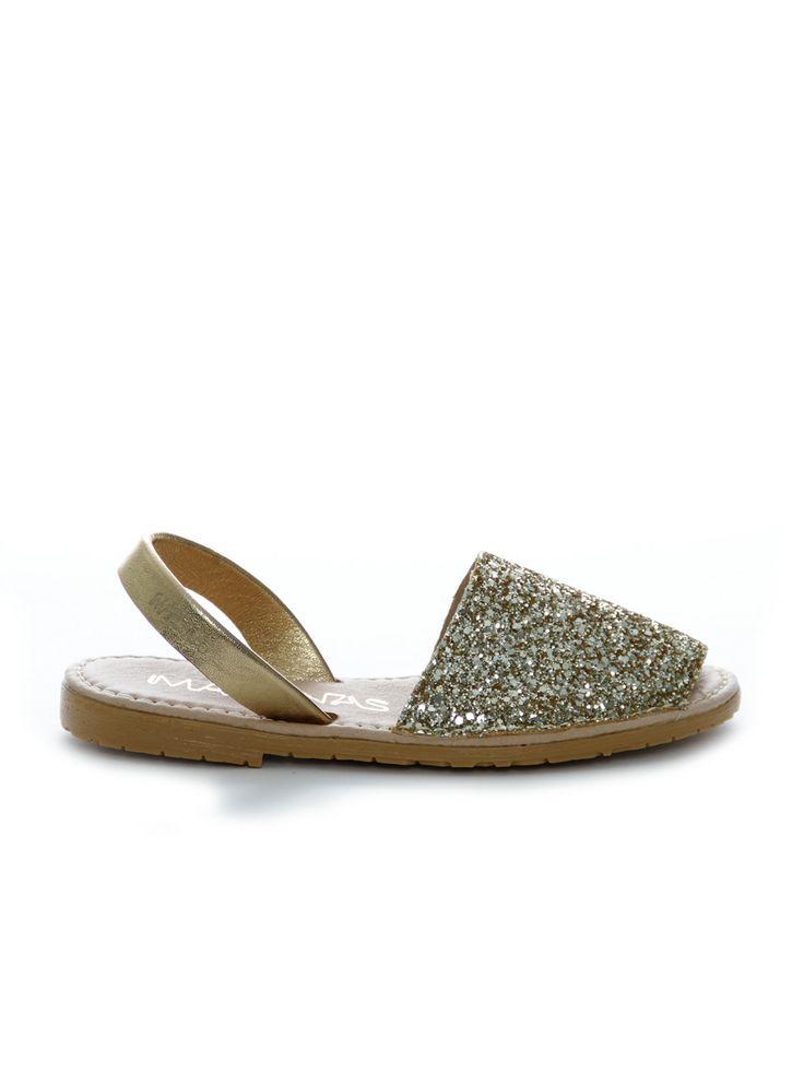 Marenas sandal med glitter i guld
