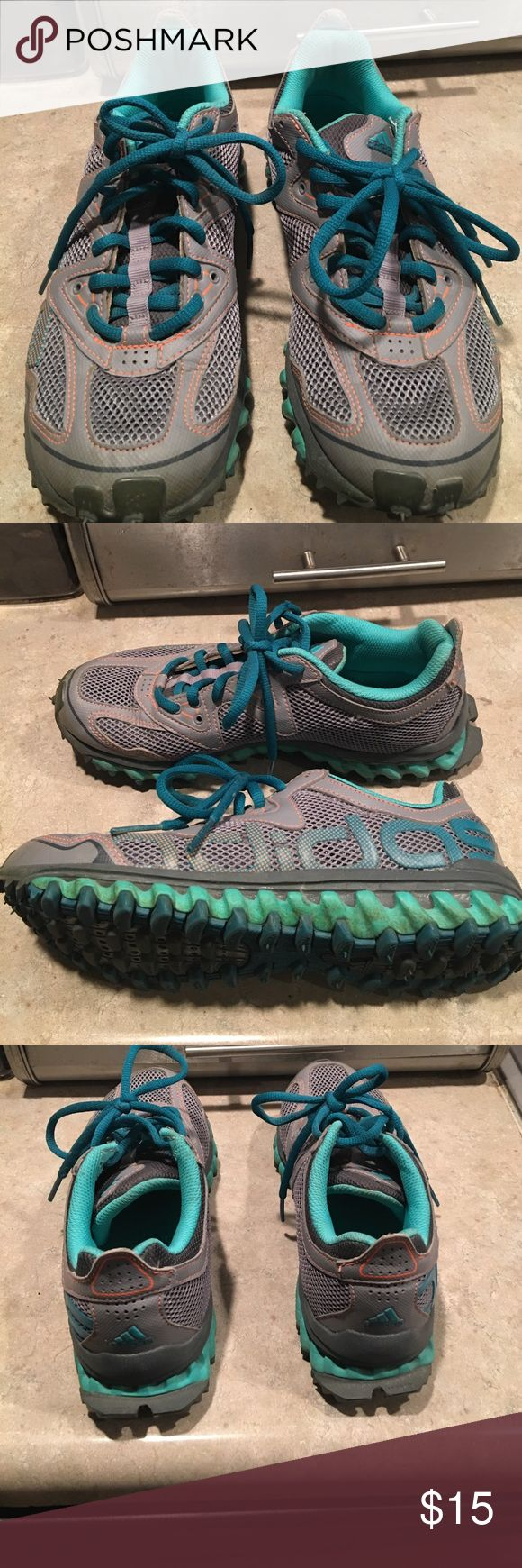Women's adidas trail shoes size 7.5 Great for running or hiking outside! Minimal wear, smoke free home Adidas Shoes Sneakers