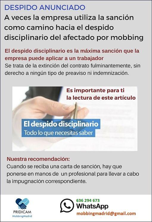 Mobbing Madrid PRIDICAM: DESPIDO ANUNCIADO A veces la empresa utiliza la sa...