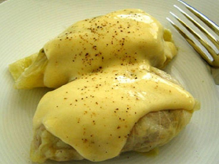 Λαχανοντολμάδες με κρέμα αβγολέμονο - gourmed.gr