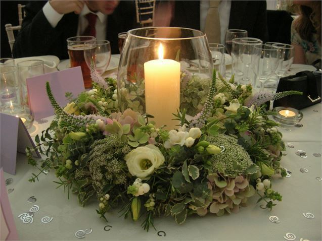 Storm lantern arrangement from Florist in the Forest - Florist in the Forest
