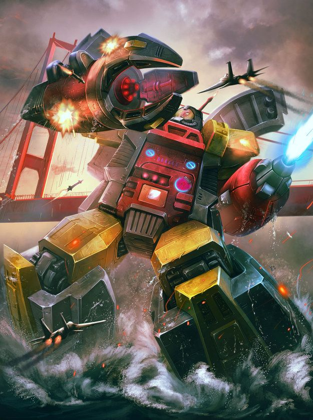 Omega Supreme: Other Transformers characters can turn into cars, trucks, whatever. He turns into an entire defense base. Plus, he was one of the most expensive toys, so you got mad street cred if you were the kid who had him.