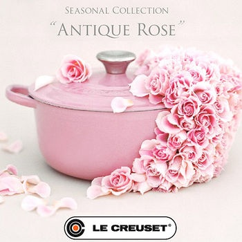 LE CREUSET pink. Obviously I need to own this!